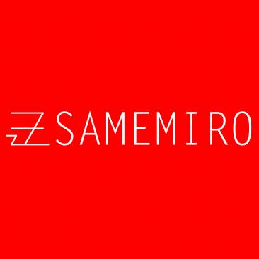 Logo samemiro text white